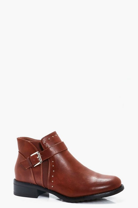 Georgina Pin Stud Ankle Chelsea Boots