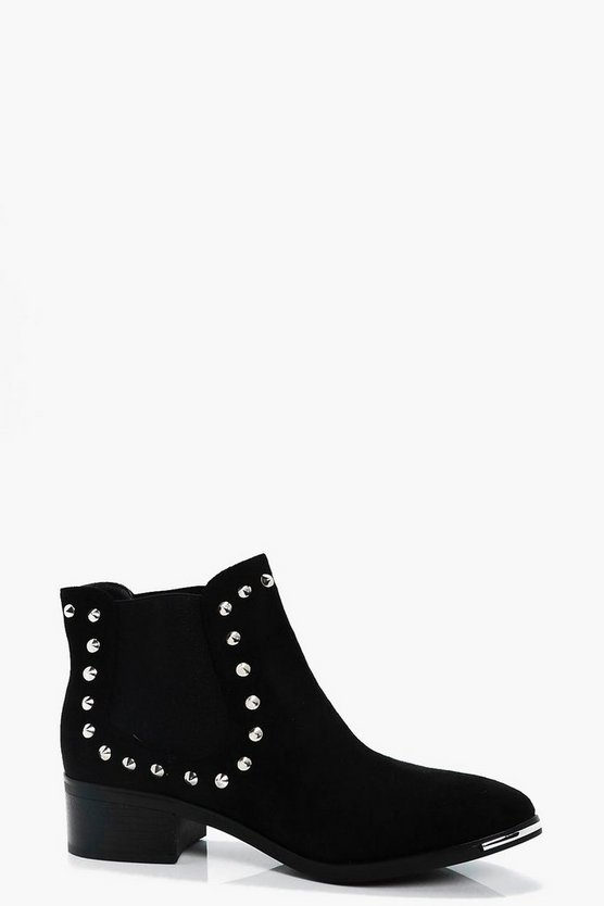 Lizzie Studded Pull On Chelsea Boot