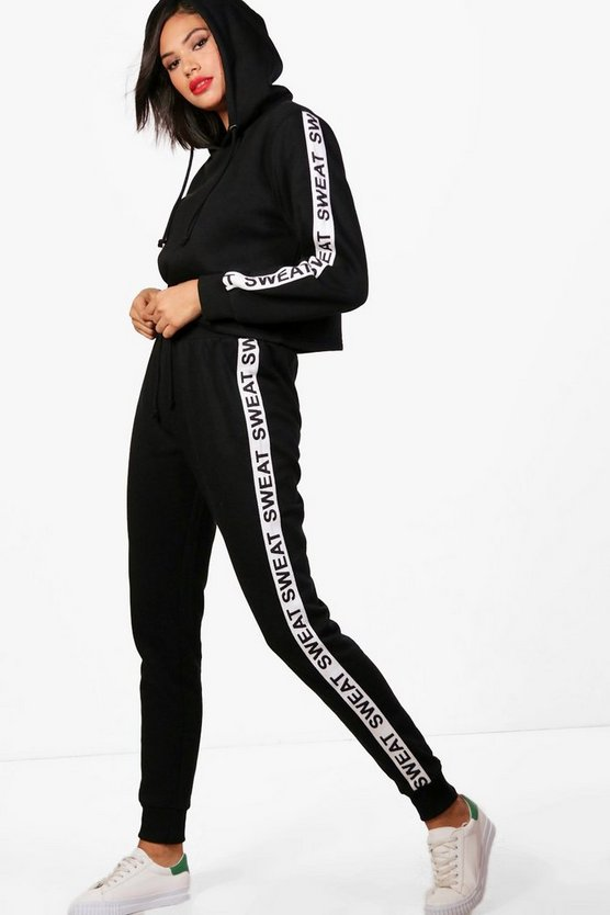 Athleisure Sweat Slogan Tracksuit