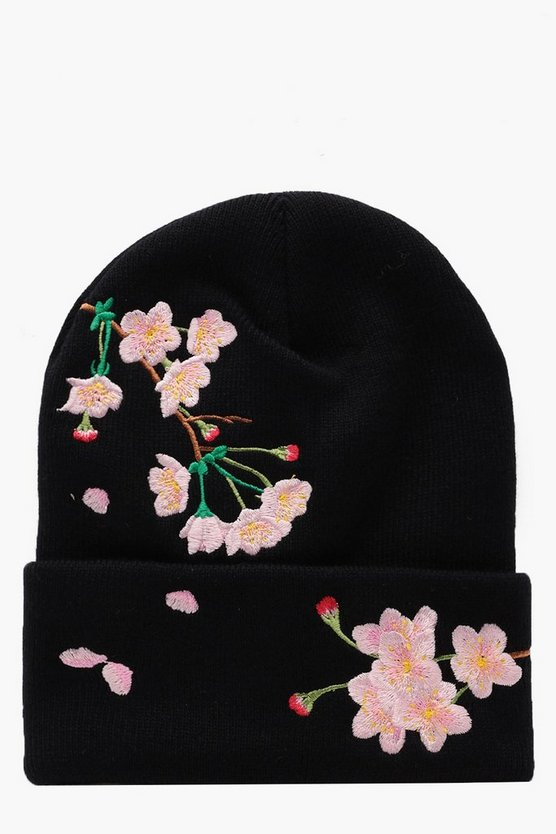 Penny Embroidered Boyfriend Beanie