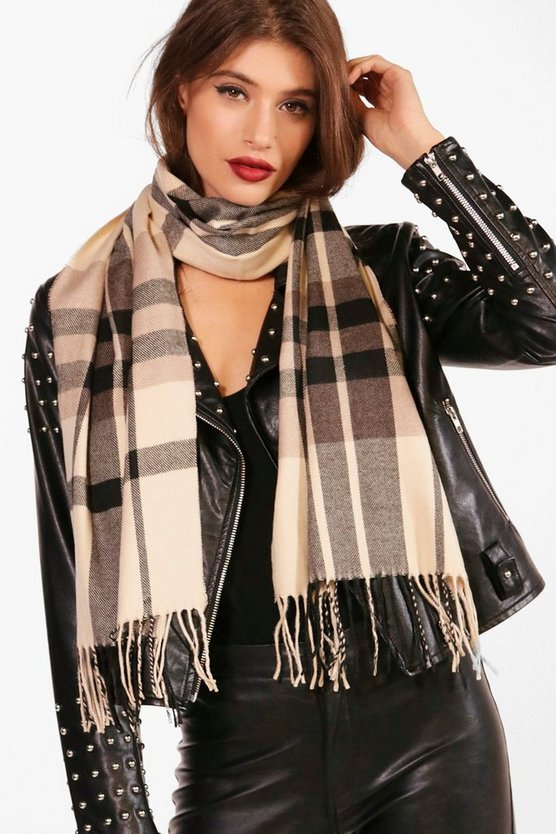 Nadia Check Woven Scarf