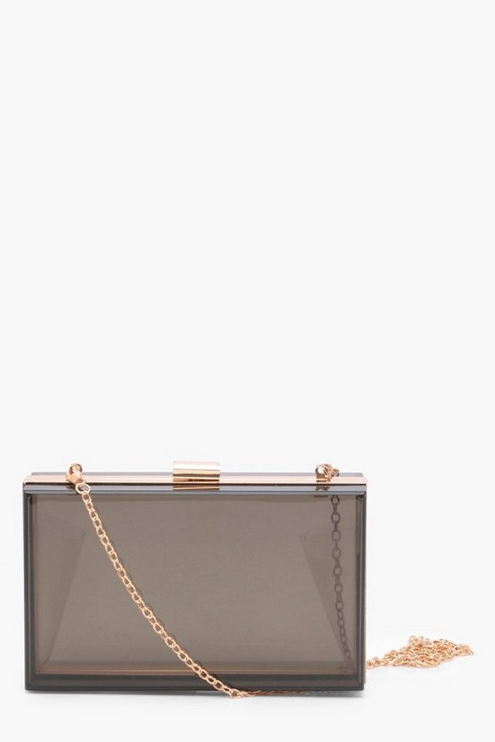 Tanya Coloured Clear Clutch Bag