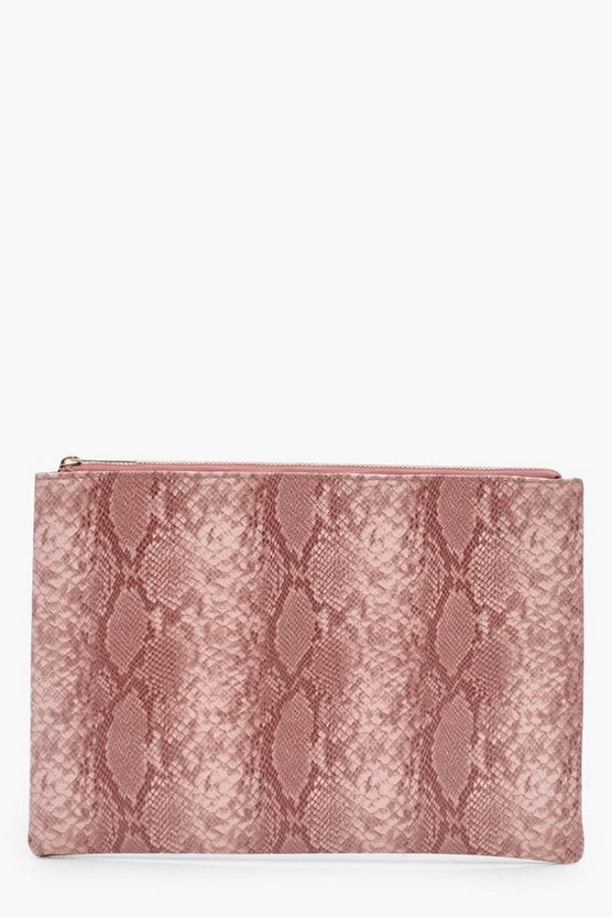 Mol Faux Snake Clutch Bag