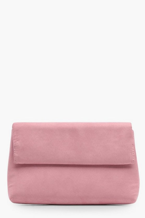 Lottie Velvet Roll Down Clutch