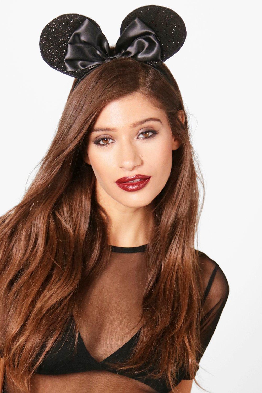 Bow Mouse Ear Headband - black - Charlotte Bow Mou