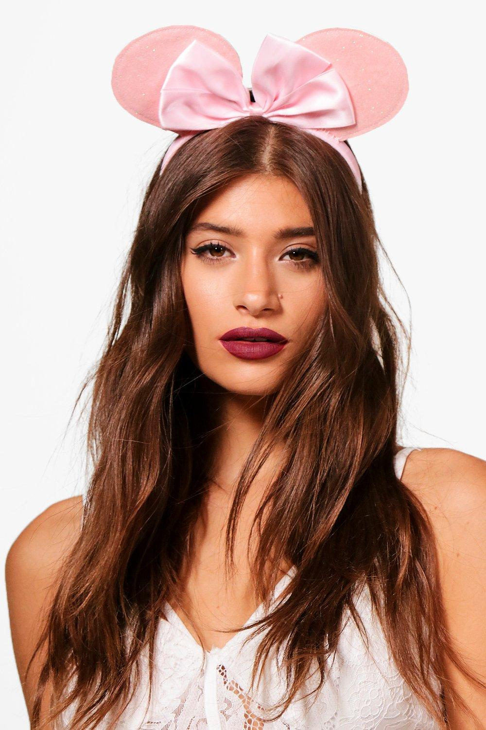 Bow Mouse Ear Headband - pink - Charlotte Bow Mous