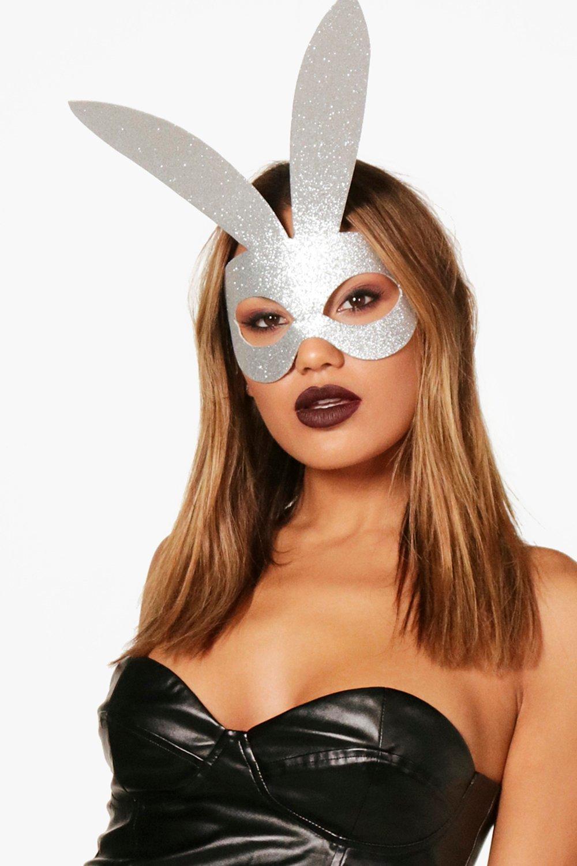Glitter Bunny Mask - silver - Hanna Glitter Bunny