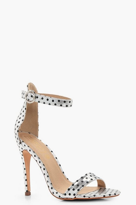 Metallic Polka Dot 2 Part Heels