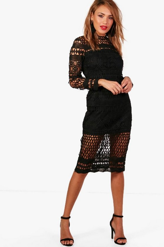 Boutique Veronique Lace Midi Dress