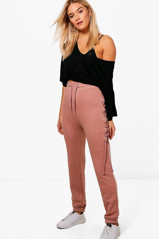 Lace Up Loopback Joggers