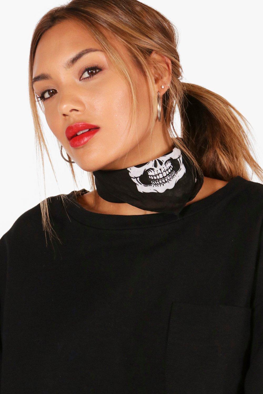 Skull Mouth Necktie - black - Jodie Skull Mouth Ne