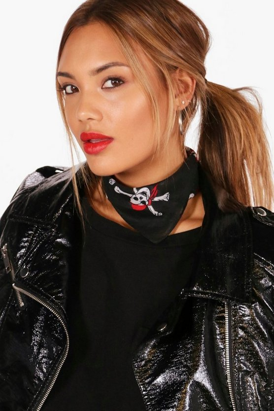 Lea Skull & Cross Bones Neck Tie Headscarf