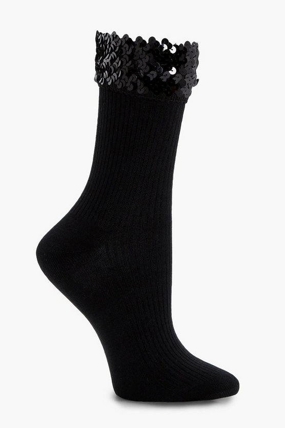 Jenny Sequin Top Ankle Socks