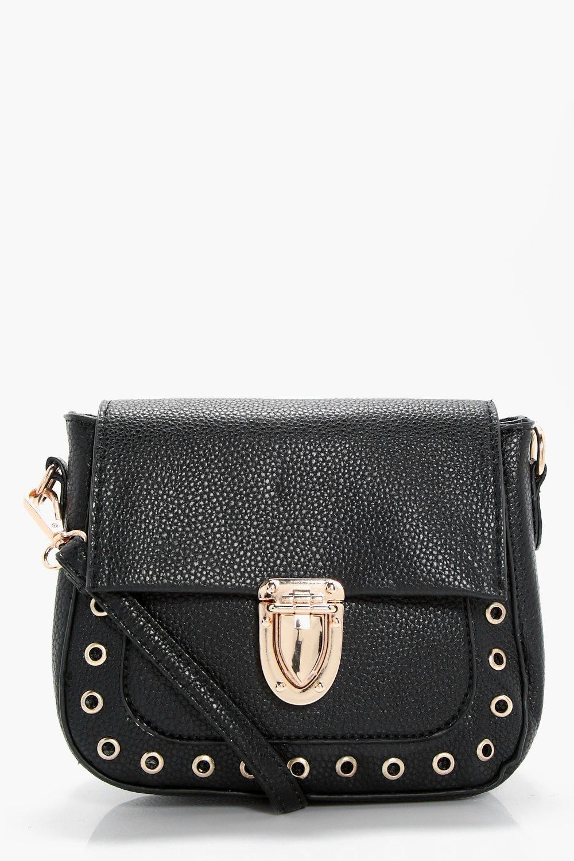 Eyelet Saddle Bag - black - Lola Eyelet Saddle Bag