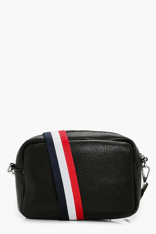 Stripe Web Strap Camera Bag - black - Ivy Stripe W