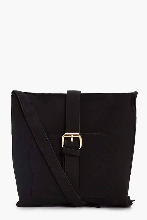 Amy Buckle Strap Cross Body Bag