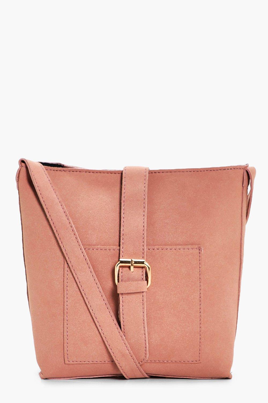 Buckle Strap Cross Body Bag - blush - Amy Buckle S