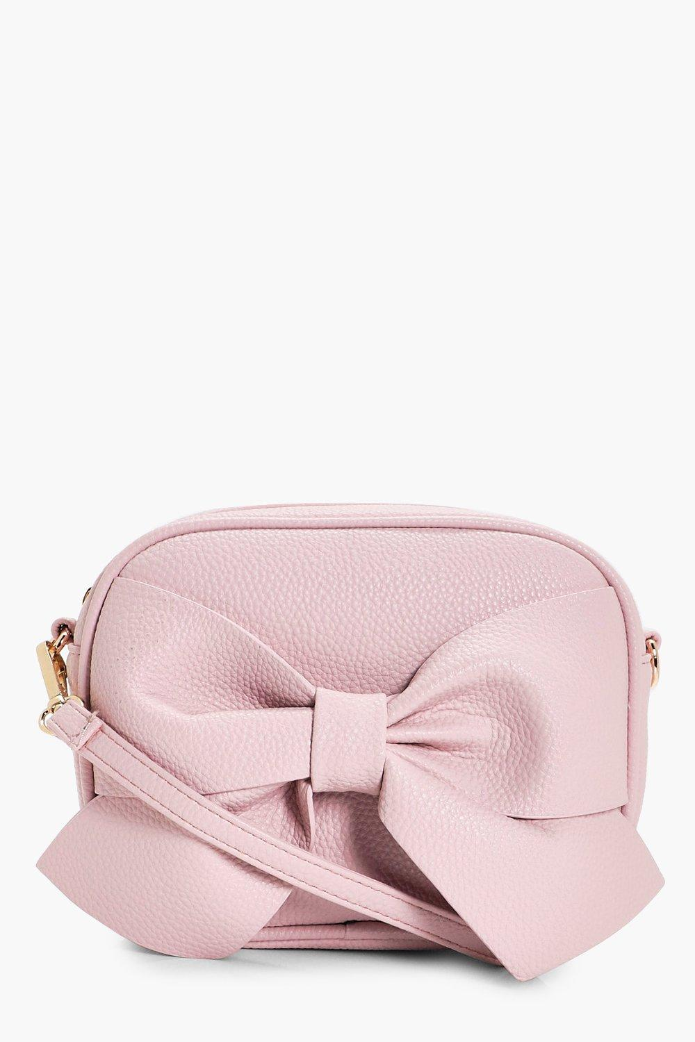 Bow Front Cross Body Bag - blush - Millie Bow Fron