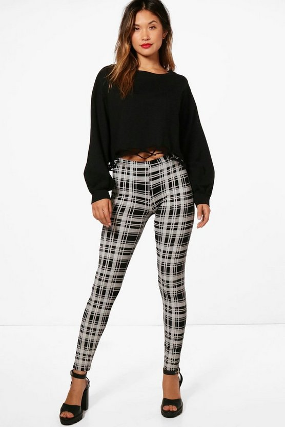 Maya Large Check High Waisted Leggings