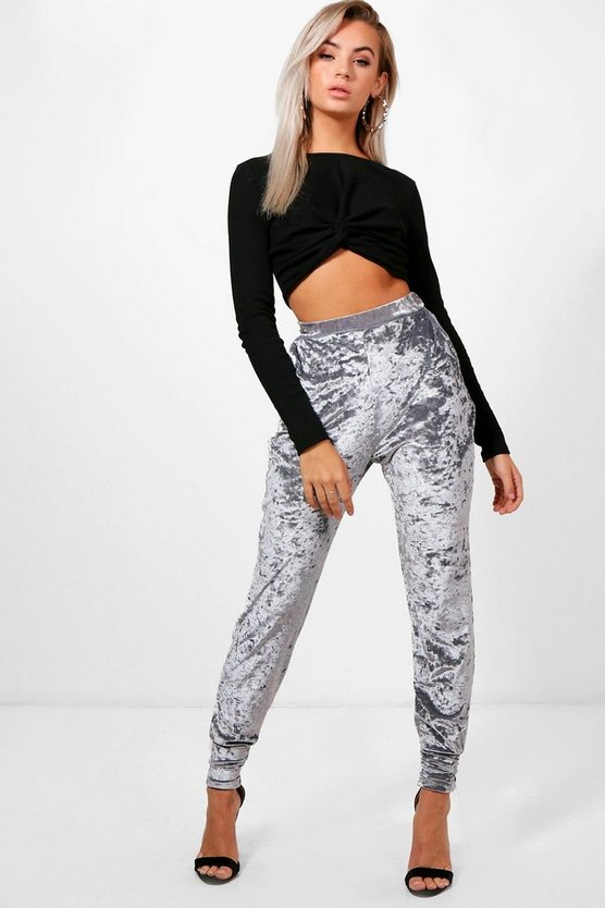 Rosie Crushed Velvet Slouchy Relaxed Joggers