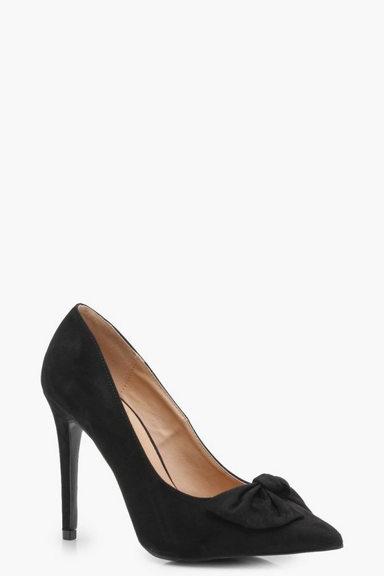 Elise Bow Trim Court Shoes