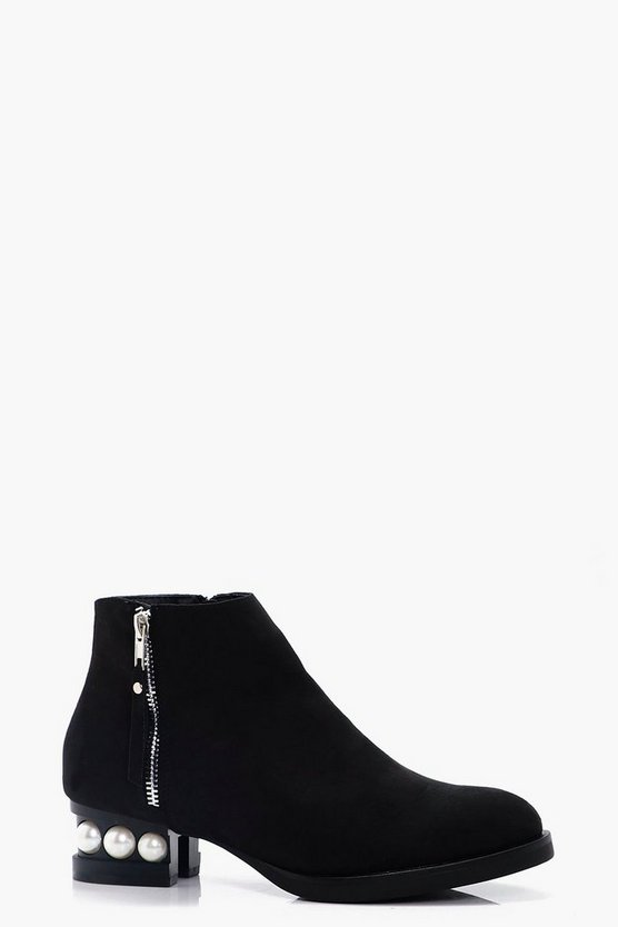 Laila Pearl Heel Ankle Boot