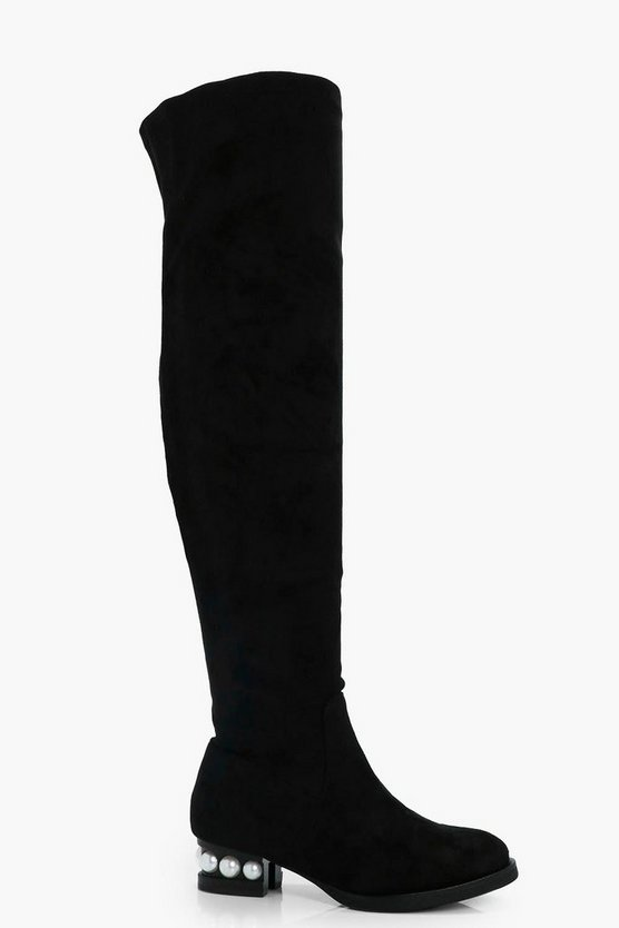 Angel Pearl Heel Over the Knee Boot
