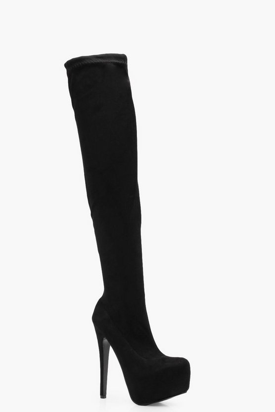 Alisha Concealed Platform Over the Knee Boot
