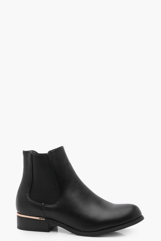 Metallic Trim Chelsea Boots