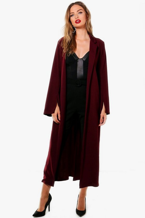 Jessica Slit Sleeve Belted Duster
