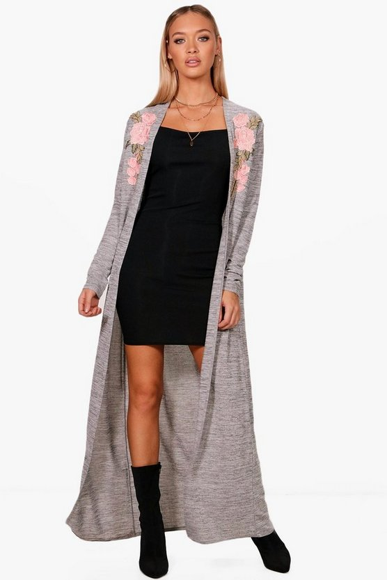 Millie Embroidered Maxi Cardigan