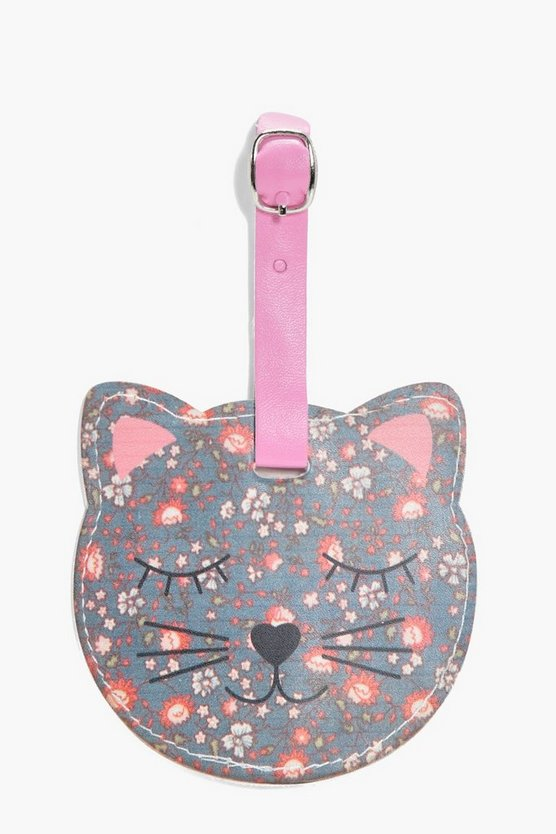 Emily Floral Cat Luggage Tag