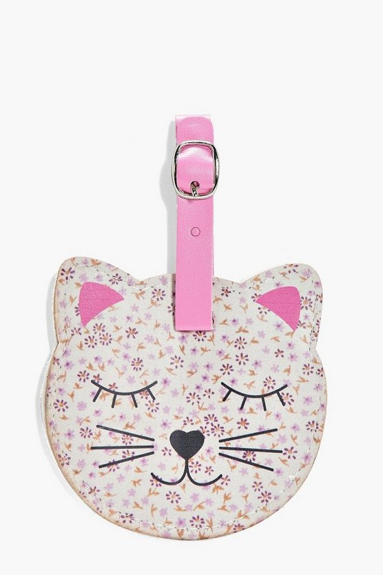 Lola Floral Cat Luggage Tag