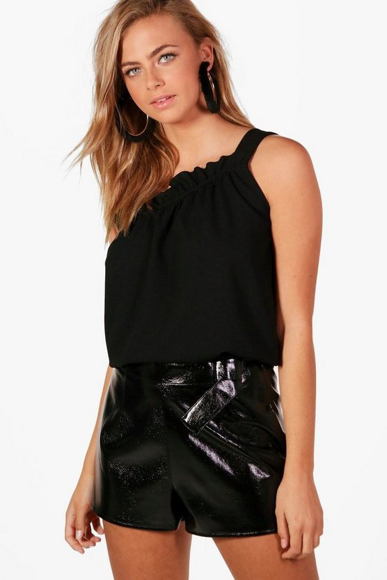 Grace One Shoulder Woven Top
