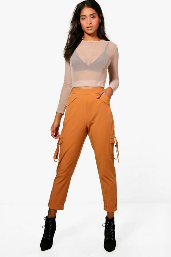 Kiera Pocket Side Luxe Utility Trousers