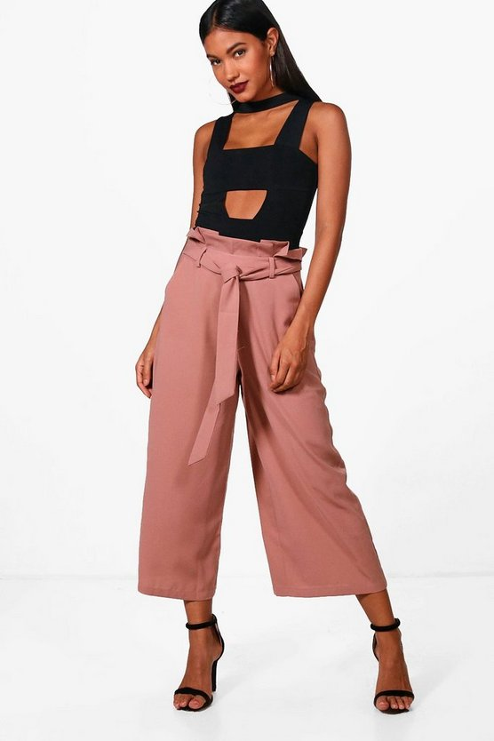 Lottie Paperbag Waist Wide Leg Trousers