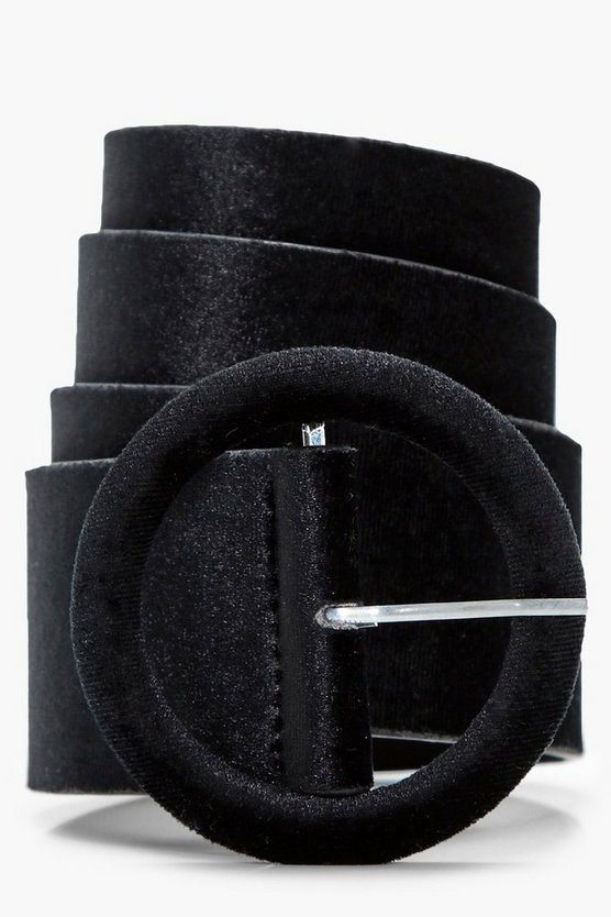 Sophie Velvet Circle Buckle Belt