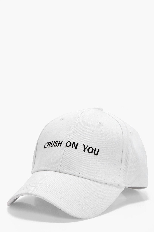 Crush On You Slogan Cap - white - Zoe Crush On You
