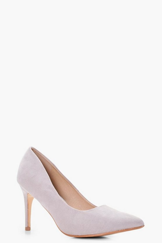 Anna Wide Fit Pointed Low Heel Court