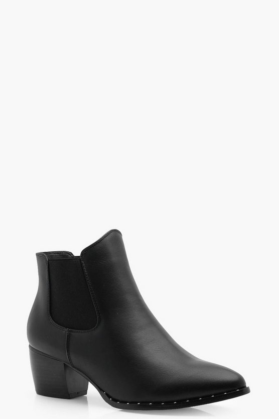 Bethany Wide Fit Pull On Chelsea Boots