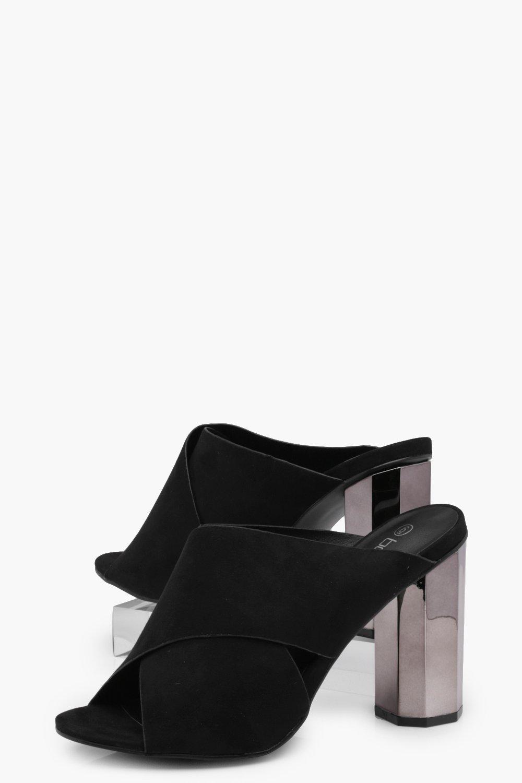 Emilia Cross Strap Cylinder Mule Heels yYjwPp