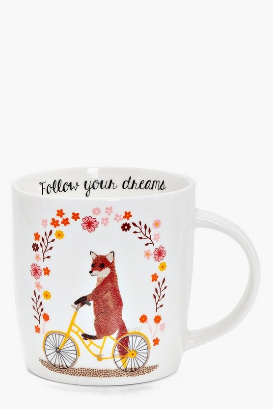 Daisy Follow Your Dreams Fox Mug
