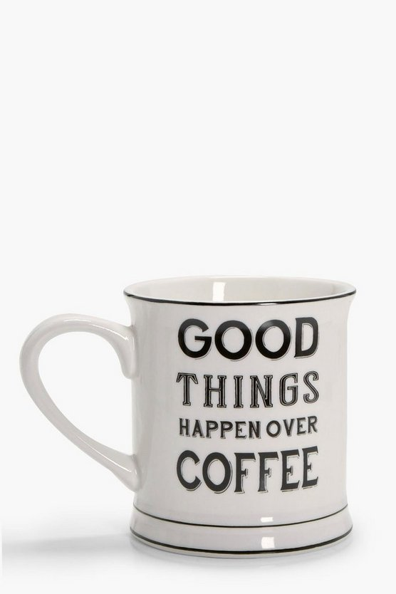 Good Things Happen Over Coffee Mug