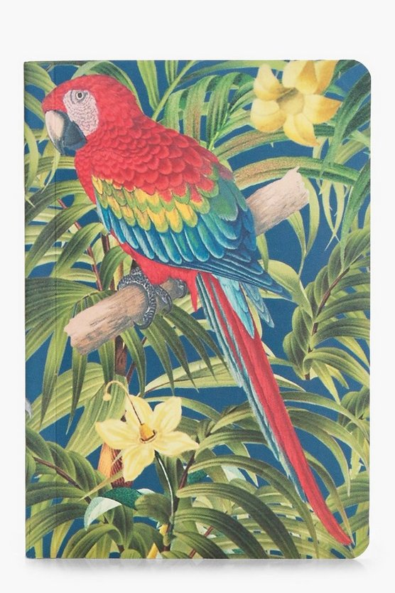 Lisa Red Parrott Pocket Notebook