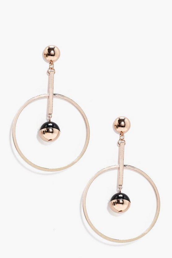 Alisha Hoop Bar And Ball Earrings