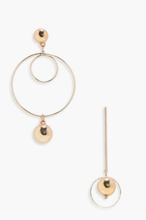 Nadia Mis Matched Hoop And Bar Earrings