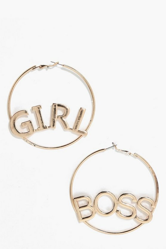 Regan Girl Boss Slogan Hoops