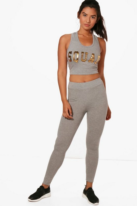 Charlotte Fit Squad Slogan Sports Set