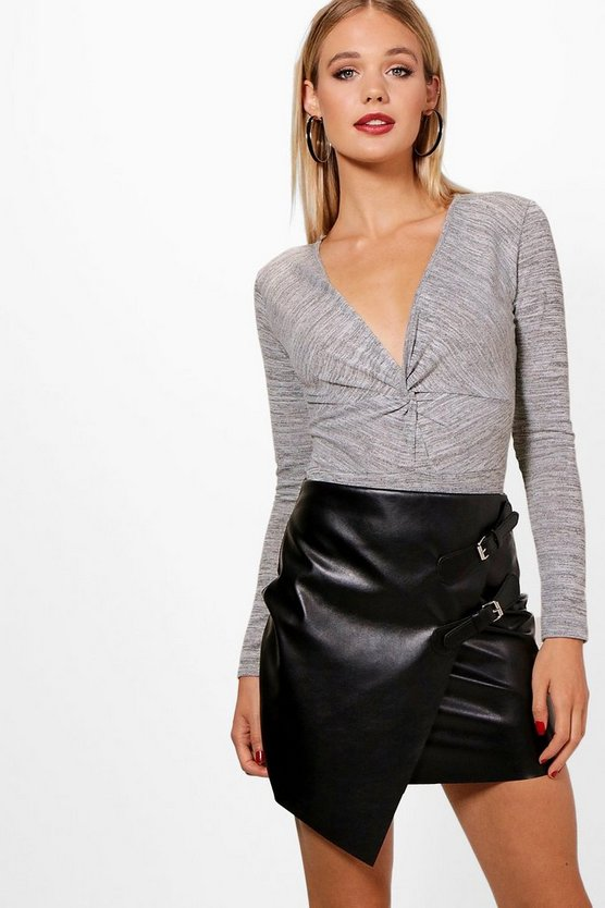 Hannah Twist Front Knitted Bodysuit