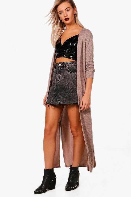 Maxi Side Split Cardigan